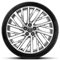Forged alloy wheels, 10-spoke-Y style, 9J x 20 with 265/40 R20 tires
