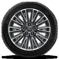 10輻V型 18英寸輪轂,對比灰局部拋光,輪胎235/55 R18