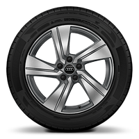 Alloy wheels, 5-arm dynamic style, Graphite Gray, diamond-turned, 7.0J x 18, 215/50 R18 tires