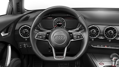 TT sports contour leather-wrapped steering wheel with multifunction Plus