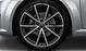 Aluminium-Gussräder Audi Sport im 5-V-Speichen-Design, Titanoptik matt, glanzgedreht, Größe 9 J x 20, mit Reifen 255/30 R 20