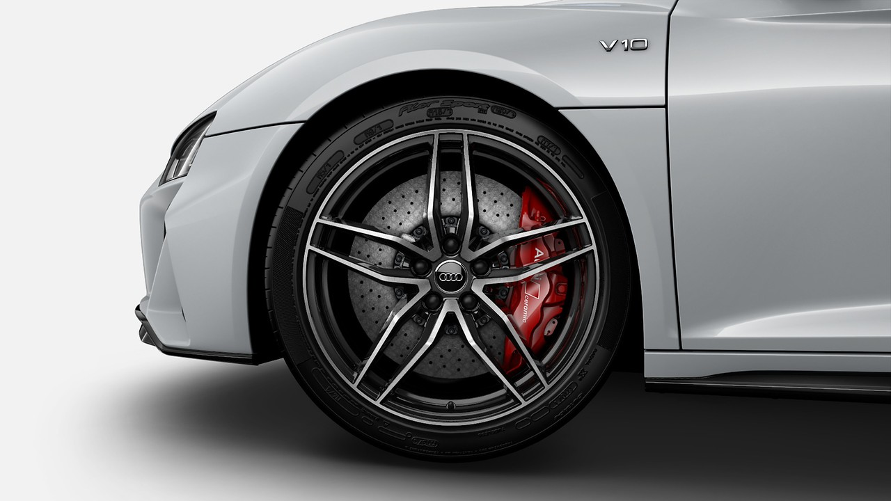 Ceramic brakes with Red calipers