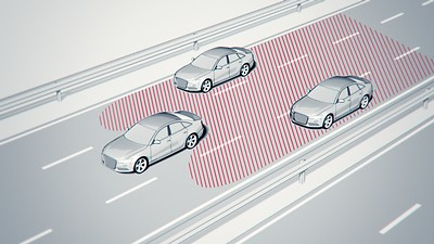 Lane change warning con Audi pre sense rear, exit warning e rear cross traffic assist