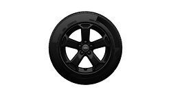 Complete winter wheel in 5-arm latus design, black, 7 J x 17, 215/55 R17 94V, left