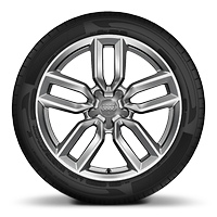 Cast alloy wheels, 5-double-spoke star style (S style), 7.5J x 18 with 225/40 R18