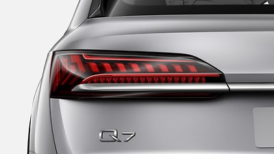 LED rear combination lamps with dynamic light design and dynamic turn signal