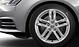 Cast aluminium alloy wheels, 5-parallel-spoke design, size 7.5J x with 225/50 R17 tyres