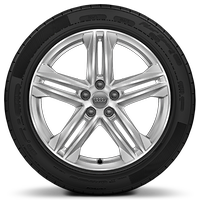 "19"" x 8J '5-arm' design alloy wheels, partly polished with 235/55 R19 tyres"