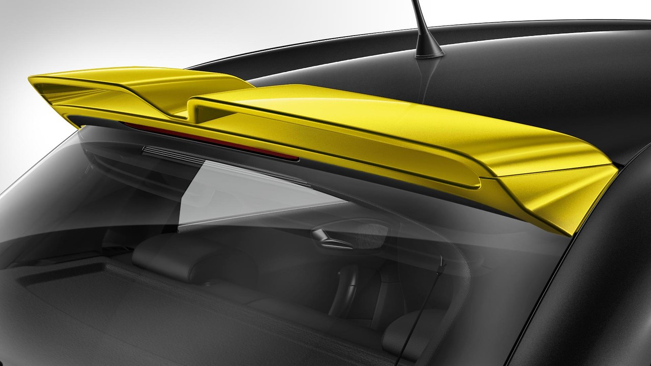 Roof spoiler in contrasting colour Macao yellow