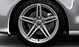 Cast aluminium alloy wheels, 5 twin-spoke star design, size 8.5 J x 19