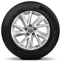 Cast alloy wheels, 5-V-spoke style, 7J x 17 with 215/55 R17 tires