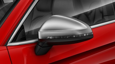 Exterior mirror housings in Matte Aluminum Look