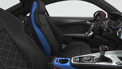 Color interieur pack turbo blauw