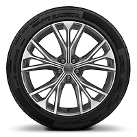 "21"" 5-W-spoke contrasting grey alloy wheels"