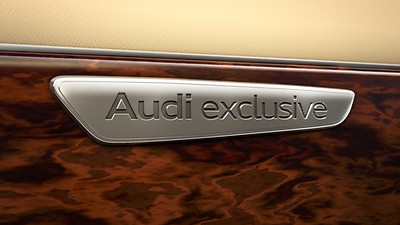 Audi exclusive headlining in Alcantara, black, with coloured stitching