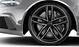 Легкосплавные диски Audi Sport, дизайн «5 двойных спиц», черные блестящие, c полированной обводкой, размер 9,5J x 21