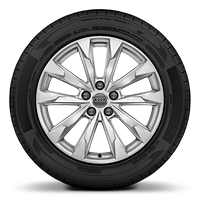 Cast alloy wheels, 5-double-arm style, size 7J x 18, with 235/55 R18 tires