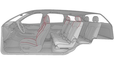 Piping for individual contour seats, Audi exclusive