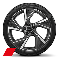 Alloy wheels, 5-arm Y-style, Matte Titanium Gray, diamond-turned, 8.0Jx19, 235/35 R19 tires, Audi Sport GmbH
