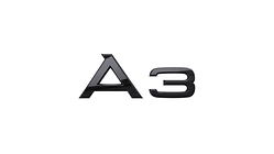 """Modellbezeichnung Heck schwarz, """"A3"""""""