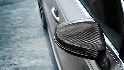Audi exclusive high-gloss carbon black exterior mirror housings