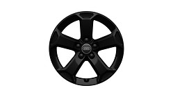 Cast aluminium winter wheel in 5-arm latus design, black, 7 J x 17