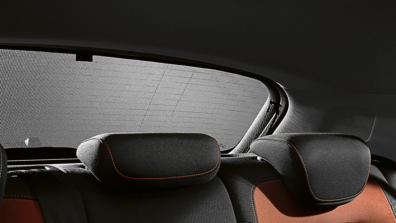 Sun protection system, for the rear window