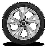 "20"" 5-arm design silver wheels"