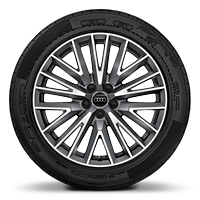 Alloy wheels, 20-spoke V-style, Graphite Gray, diamond-turned, 7.0J x 19, 235/50 R19 tires