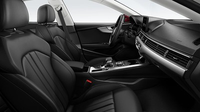 Sports seats with seat ventilation in front