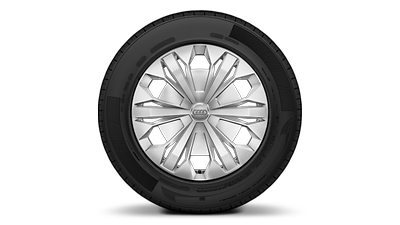 Steel wheels with wheel trims, 6.5J x 17 with 215/65 R17 snow tires