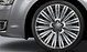 Forged aluminium alloy wheels, 15-spoke structured design, contrasting grey, size 9J x 20, 265/40 R 20 tyres