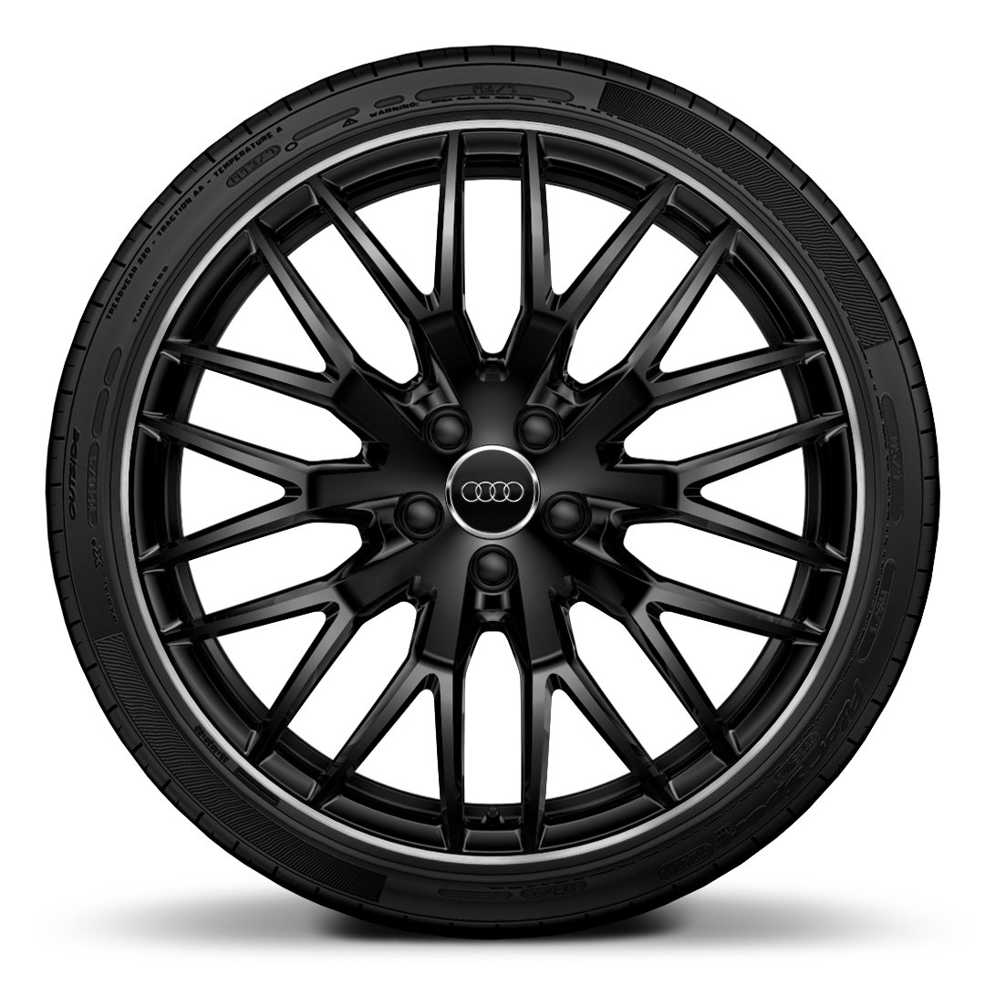 "20"" x 9J 10-Y-spoke design in gloss black with 255/30 R20 tyres"