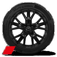 """21"""" 5-double-spoke V-design, black wheels"""