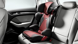 Audi child seat youngster plus, misano red/black