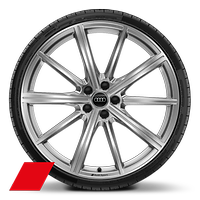 "21"" x 10.5J '10 spoke star' design alloy wheels with 275/35 R21 tyres"