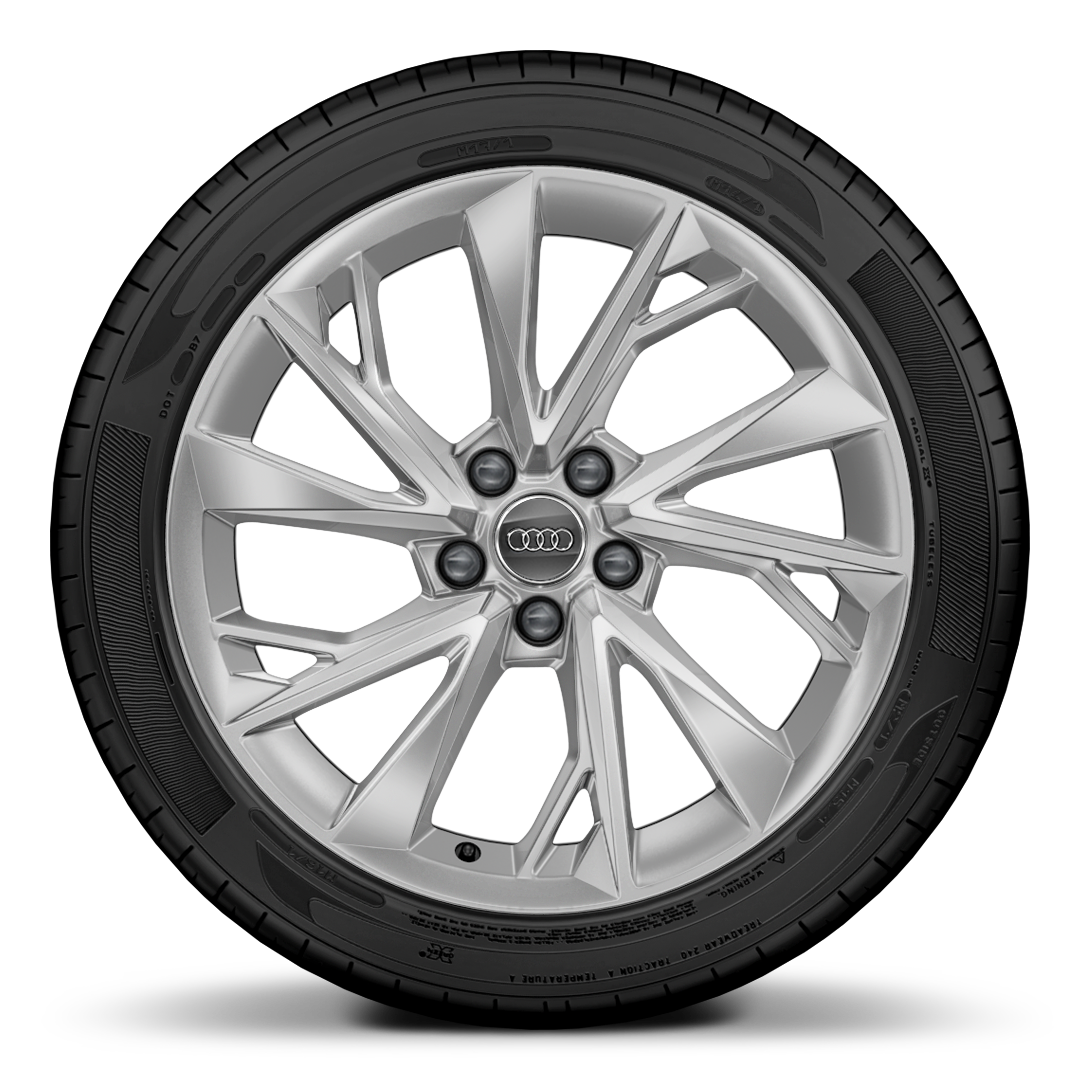 Cast alloy wheels, 5-V-spoke Y-style, 8.5J x 18, 245/40 R18 tires