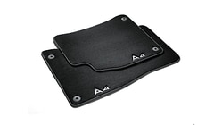 Premium textile floor mats, for the front, black/steel-grey