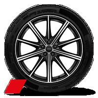 """21"""" Audi Sport® 10-spoke-star design, bi-color black finish wheels"""