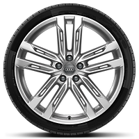Cast alloy wheels, 5-double spoke style (S style), 9J x 20, 265/40 R20 tires