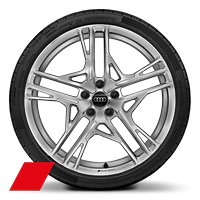 Alloy wheel 8.5J + 11J x 20, 5-double-spoke dynamic style, with 245/30 + 305/30 R20 tire