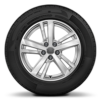 Cast alloy wheels, 5-double-spoke style, 7J x 17 with 215/65 R17 tires
