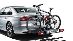 Bicycle carrier for the trailer towing hitch