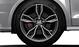Cast alum. alloy wheels, 5-arm facet des. (S design), contrast. grey, partly pol., 7.5J x 18 w. 225/35 R18 tyres
