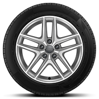 "17"" 'Multi-spoke' design alloy wheels  with 7.5J 225/55 R17 tyres"