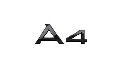 """Modellbezeichnung Heck schwarz, """"A4"""""""