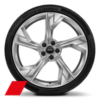 Audi Sport  5-arm flag style, 9J x 20 with 275/30 R20 tires