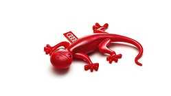Air freshener gecko, red, herby floral