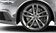 Cast aluminium alloy wheels, 5 twin-spoke design, size 9.5J x 21, with 285/30 R 21 tyres