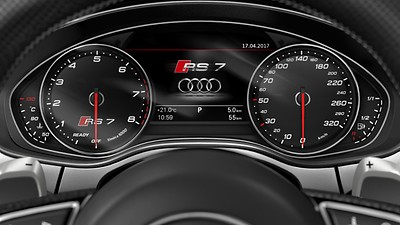 Instrument cluster with km/h display